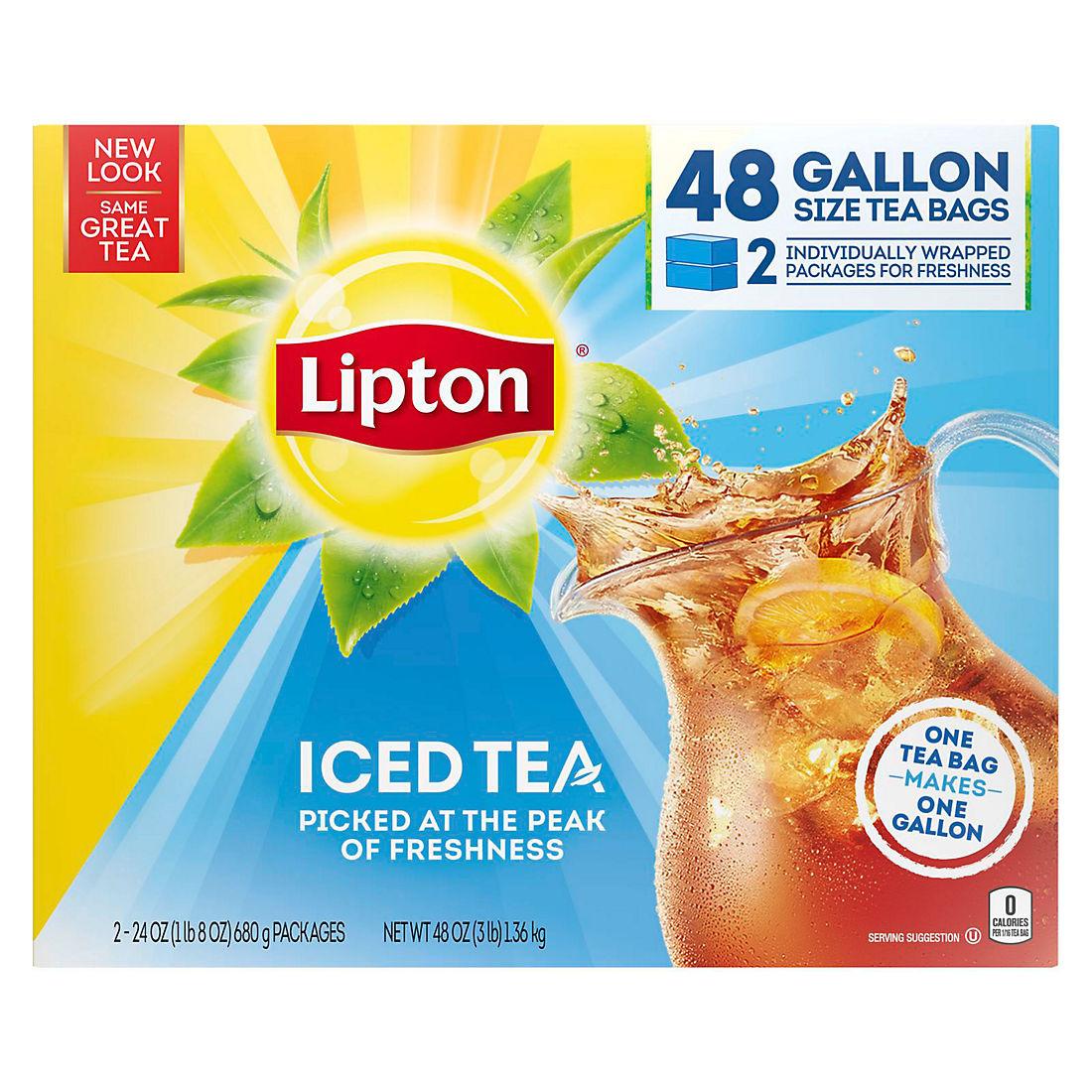 Lipton Unsweetened Gallon Sized Black Iced Tea Bags 48 Ct