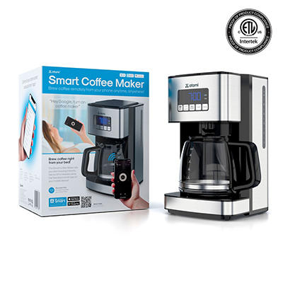 Atomi 12-Cup Smart Coffee Maker - Stainless Steel