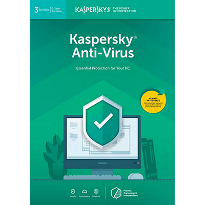 Kaspersky Anti-Virus 2019 for Windows, 3 Users