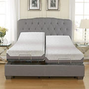 "Contour Rest 10"" Air Flow Gel Memory Foam King Size Mattress with Adjustable Base"