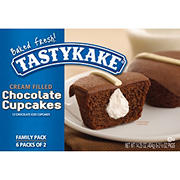 Tastykake Cream Filled Chocolate Cupcakes, 12 ct./1.18 oz.