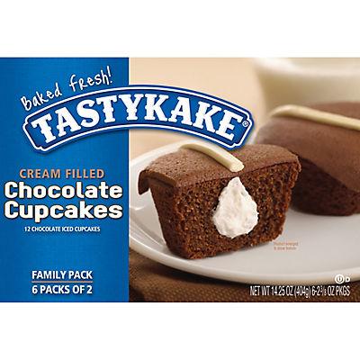 Tastykake Cream Filled Chocolate Cupcakes, 12 ct./1.18 oz.