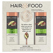 Hair Food Avocado & Argan Oil Sulfate-Free Shampoo and Conditioner Bundle Pack, 1 pk./17.9 oz. Shampoo + 1 pk./17.9 oz. Conditi