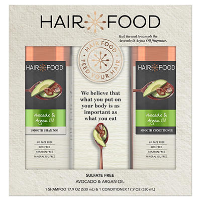 Hair Food Avocado & Argan Oil Sulfate-Free Shampoo and Conditioner Bun