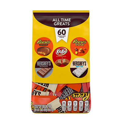 Hershey's Minis All-Time Greats Variety Pack, 60 ct.