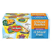 Del Monte Diced Peaches and Mixed Fruit Lite Fruit Cups, 24 pk./4 oz.