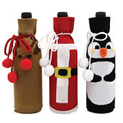 Wine Sock Bottle Covers, 3 pk. - Assorted