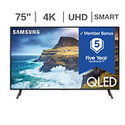 "Samsung 75"" Q7DR QLED 4K UHD Smart TV - QN75Q7DR with $50 Google Play Credit, 5-Year Warranty"