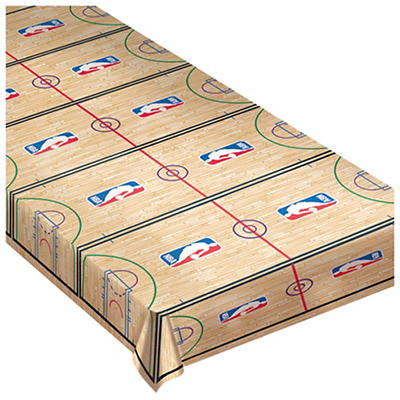 """Amscan Spalding Basketball Court 54"""" x 102"""" Table Cover, 2 pk."""