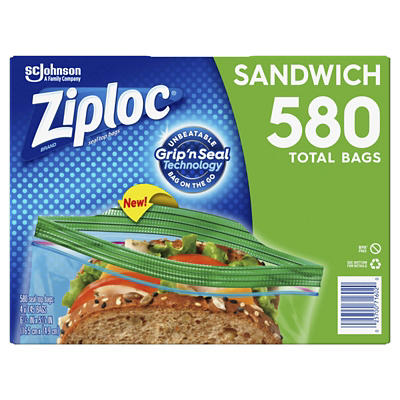 Ziploc Seal Top Sandwich Bags, 580 ct.