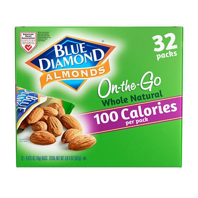 Blue Diamond Whole Natural Almond Snack Packs, 32 ct.