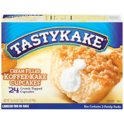 Tastykake Cream Filled Koffee Kake Cupcake, 24 ct./1.02 oz.