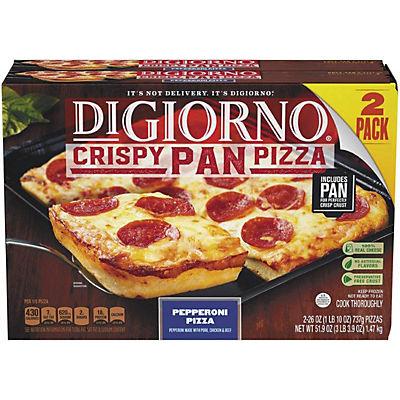 DiGiorno Crispy Pepperoni Pan Pizza, 2 ct.