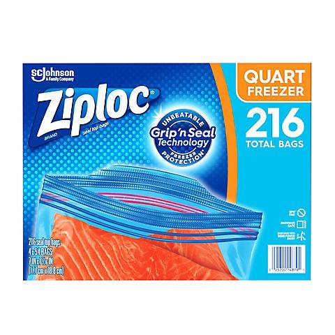 Ziploc Quart Freezer Bags 216 Ct