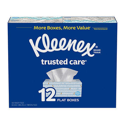 Kleenex Trusted Care Everyday Facial Tissues, 144 ct./12 pk.