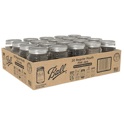 Ball Glass Canning Mason Jars, 20 ct.