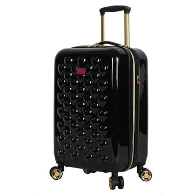 Betsey Johnson Spinner Carry-On Luggage - Heart to Heart