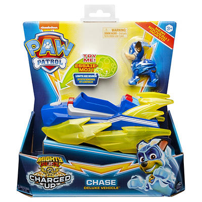 PAW Patrol Mighty Pups Super PAWs Deluxe Vehicle with Lights and Sound