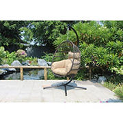 Berkley Jensen Wicker Hanging Egg Chair - Brown