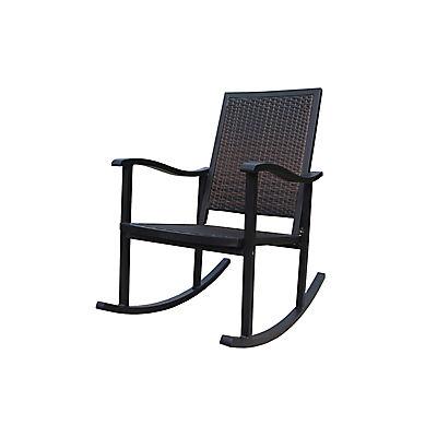 Berkley Jensen Wicker Rocking Chair - Dark Brown