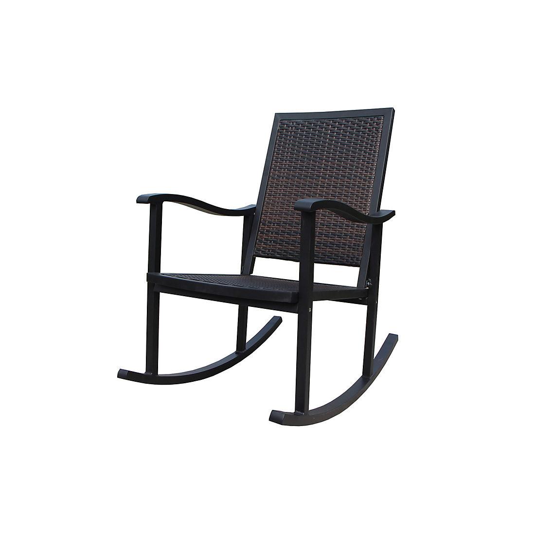 Excellent Berkley Jensen Wicker Rocking Chair Dark Brown Cjindustries Chair Design For Home Cjindustriesco