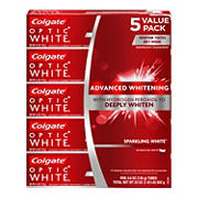 Colgate Optic White Whitening Toothpaste, Sparkling White, 5 pk./4.6 oz.