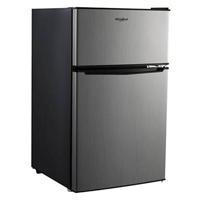 Whirlpool 3.1-Cu.-Ft. Compact Refrigerator and Freezer - Stainless Ste