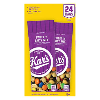 Kar's Nuts Sweet and Salty Trail Mix, 24 pk./2 oz.
