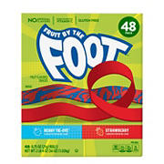 Fruit by the Foot Strawberry and Berry Tie-Dye Variety Fruit Flavored Snacks, 0.75 oz./48 ct.