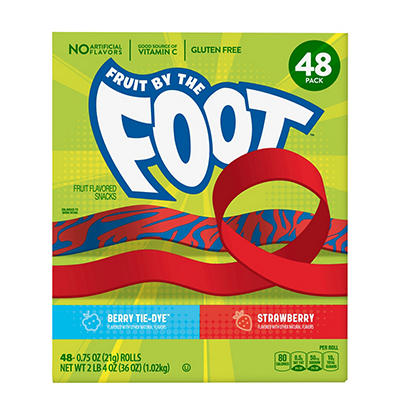 Fruit by the Foot Strawberry and Berry Tie-Dye Variety Fruit Flavored