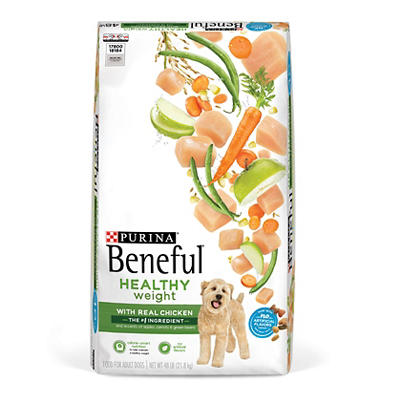 Purina Beneful Healthy Weight with Real Chicken Dog Food, 48 lbs.