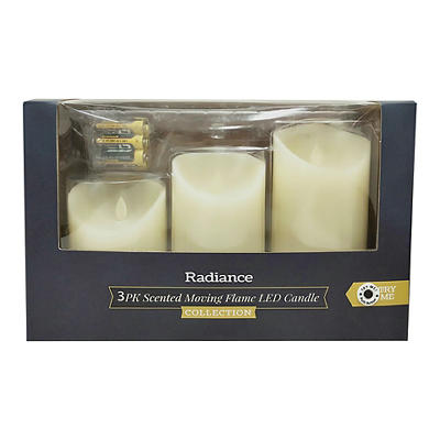 Veraflame TrueFlame Flameless Scented LED Candles, 3 pk.