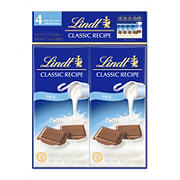 LINDT Classic Recipe Milk Chocolate Bar, 4 pk./4.4 oz.
