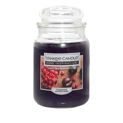Yankee Candle Home Inspiration Large Candle Jar, 19 oz. - Sweet Raspbe