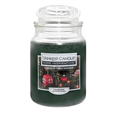 Yankee Candle Home Inspiration Large Candle Jar, 19 oz. - Evergreen Pi