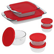 Pyrex Bake N Store Baking and Storage Dish Set, 14 pc.
