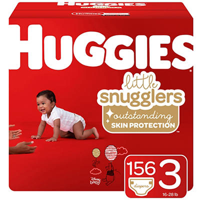 Huggies Little Snugglers Baby Diapers, Size 3, 156 ct.