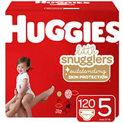 Huggies Little Snugglers Baby Diapers, Size 5, 120 ct.