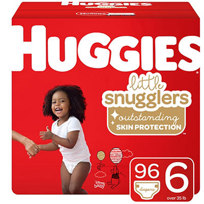 Huggies Little Snugglers Baby Diapers, Size 6, 96 ct.