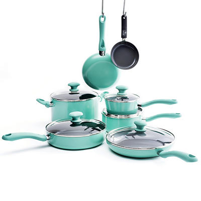 GreenLife Ceramic 12-Pc. Non-Stick Cookware Set
