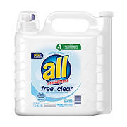 All Free Clear Liquid Laundry for Sensitive Skin, 250 oz.,166 Loads