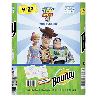 Bounty Select-A-Size Two Ply Paper Towels, 12 pk. - Toy Story 4