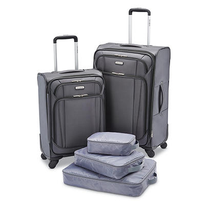 5-Piece Samsonite Softside Luggage Set (Shark Gray)