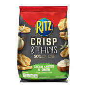 Ritz Crisp and Thins Cream Cheese and Onion, 16 oz.