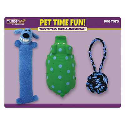 Multipet Pet Time Fun Dog Toys, 3 ct.