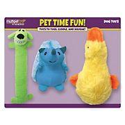 Multipet Plush Dog Toys, 3 ct.