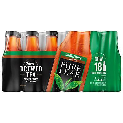 Lipton Pure Leaf Unsweetened Iced Black Tea, 18 pk./16.9 oz.