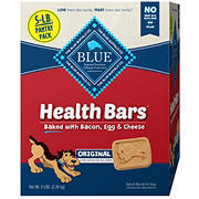 Blue Buffalo Health Bars Natural Crunchy Dog Treats Biscuits, Bacon, Egg & Cheese, 5 lbs.