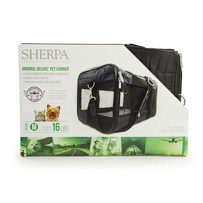 Sherpa Original Medium Deluxe Pet Carrier - Black
