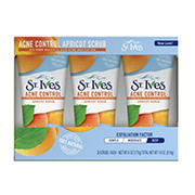 St. Ives Blemish Control Apricot Face Scrub, 3 ct./6 oz.